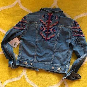NWT Aztec denim jacket